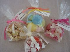 Personalised Filled and Decorated Wedding Favour/Party Sweet Bags. via Etsy. Party Bags, Party Favors, New Product, Product Ideas, Sweet Carts, Candy Cart, Personalized Candy, Candy Shop, Sugar Rush