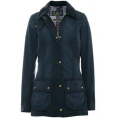 Women's Barbour Vintage Beadnell Waxed Jacket (£249) found on Polyvore