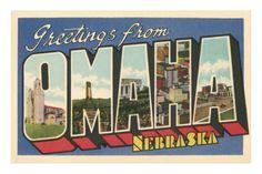 Greetings from Omaha, Nebraska Premium Poster