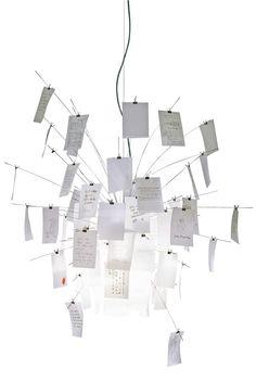 Metal And Paper Chandelier by Ingo Maurer #productdesign #lightingdesign