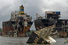 Chittagong in Bangladesh ship graveyard