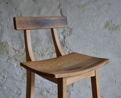 Scottish Oak Bar Stool by Clachan Wood £350