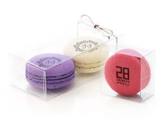 Custom artisan macarons: add your logo or message to our signature macarons and surprise your guests. They look great as party or wedding favors and will leave a sweet and pretty impression! Choose from a variety of ribbon colors, match the color of the macarons with your wedding palette and add your custom label to make it even more unique! We will make your dreams come true - just ask us! www.chocomize.com