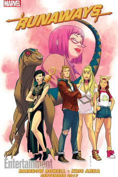 The Runaways TV series with writer Rainbow Rowell. Can't wait!!!!
