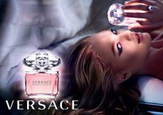 Candice Swanepoel with Versace Bright Crystal