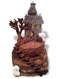 Halloween Haunted House Cake