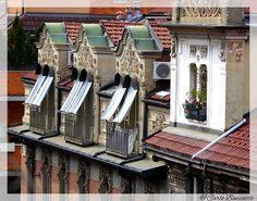 """abbaini torinesi  L'abbaino è normalmente situato su un tetto spiovente e il locale sottostante è chiamato """"mansarda"""" dal nome dell'architetto francese François Mansart (1598-1666) che ne fece una peculiarità dei suoi progetti architettonici. La famiglia Mansart, che lavorò per alcuni Re di Francia, fra i quali Luigi XIV, detto """"il re Sole"""", era di origini italiane. Di Carlo Bonicatto"""