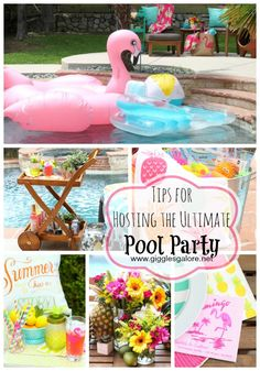 Dust off the pool toys, spruce up your patio, gather family and friends and check out these tips for hosting the ultimate pool party this summer.