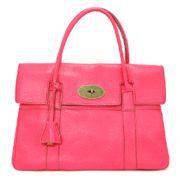 ビビッドなホットピンクが可愛い!! 牛革素材のハンドバッグ  SFSELFAA0000241