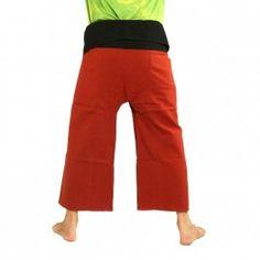 Pantalon de pêcheur thaïlandais - deux couleurs - Coton