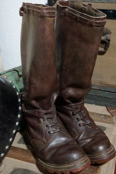 Vtg German Motorcycle Boots