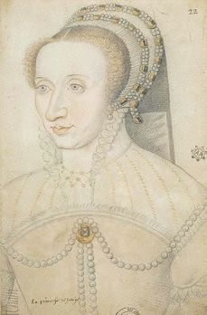 MARGUERITE DE VALOIS, duchess of Savoy daughter of Francois I and Claude de France.  Sister of Henri II