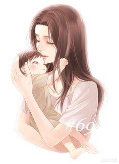 Attack on Titan - Baby Levi and his Mom. Awwww ; o ;