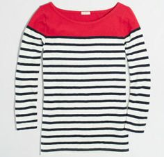 J crew taditional pink with stripes.