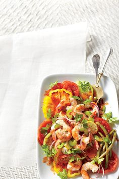 Mary Tomato Salad with Quick Pickled Shrimp - Southern Style Shrimp ...