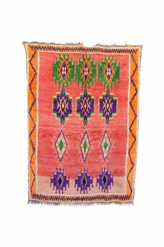 Stunning rugs hand-knotted by Berber women of the Azilal tribes in the High Atlas Mountains of Morocco. Types Of Rugs, Pink Rug, Cool Rugs, Handmade Rugs, Vintage Rugs, Bohemian Rug, Hand Weaving, Moroccan Rugs, Boho Chic