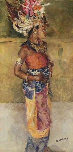Willem Dooijewaard - Balinees danseresje