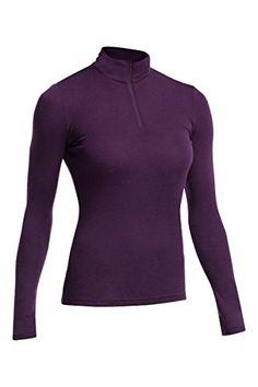 22d295ee25 Icebreaker Womens Everyday Long Sleeve Half Zip Shirt Vino XLarge     You  can get