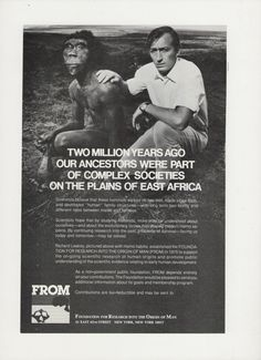 1981 FROM Foundation for Research into the Origin of Man Advertisement