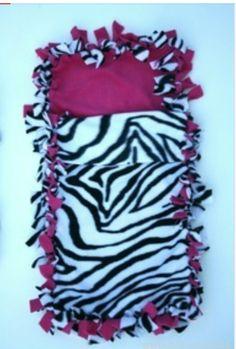 Fleece no sew sleeping bag