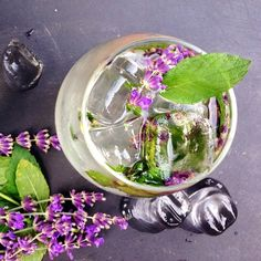 Lavender Mint Mojito - recipe on www.jillianharris.com