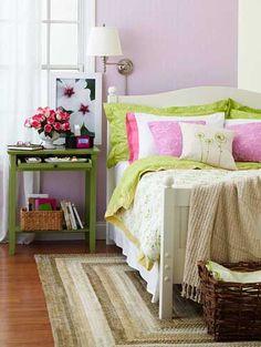 Lovely Purple Master Bedroom Decorating Ideas
