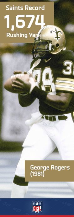 George Rogers entered the NFL in style when he led the league in rushing as a rookie with yards. Rogers from South Carolina won the Heisman Trophy in 1980 Saints Football, Dallas Cowboys Football, Football Memes, School Football, Football Players, Football Stuff, Sports Memes, Cincinnati Bengals, College Basketball