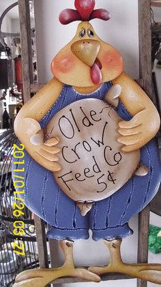 Momma B's Front Porch Chicken Signs, Coqs, Roosters, Front Porch, Peeps, Arts And Crafts, Crafty, Christmas Ornaments, Country
