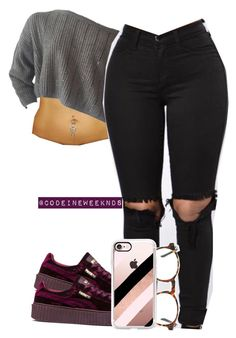 """12/28/16"" by codeineweeknds ❤ liked on Polyvore featuring Puma and Casetify"