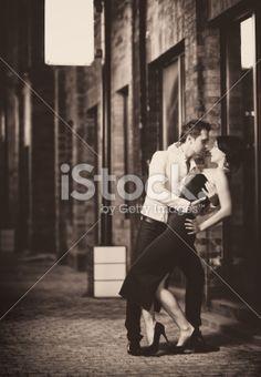 Retro tango dance Royalty Free Stock Photo
