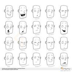 Рисование эмоций | Рисование в Фотошопе