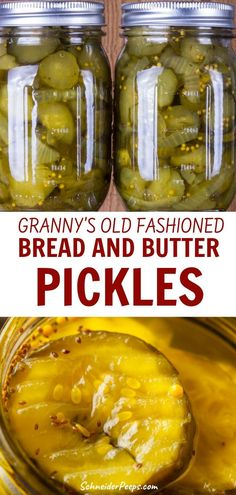 Granny's old fashioned bread and butter pickles recipe - It's hard to find good bread and butter pickles like grandma used to make. Fortunately, I have my - Bread N Butter Pickle Recipe, Bread & Butter Pickles, Butter Recipe, Home Canning Recipes, Cooking Recipes, Canning Food Preservation, Preserving Food, Canning Vegetables, Veggies
