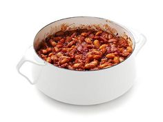 Canned beans are flavored with a spicy-sweet surprise ingredient--root beer--in this fun twist on baked beans.