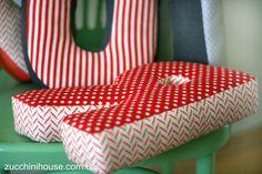 буквы-подушки для интерьера
