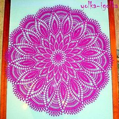 Crochet: Manteles - maomao - me muevo los pies Free Crochet Doily Patterns, Crochet Doily Diagram, Freeform Crochet, Crochet Chart, Crochet Motif, Crochet Doilies, Crochet Stitches, Pineapple Crochet, Crochet Tablecloth