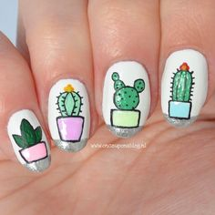 140 отметок «Нравится», 17 комментариев — Kirsten Prins (@onceuponablog.nl) в Instagram: «Cactus nail art Inspired by @joselyne.manicure ____________________________ Polishes used:…»