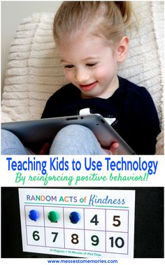Teaching kids to use technology and reinforcing positive behaviors from Messes to Memories