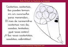 Aula virtual de audición y lenguaje: Poemas y praxias con castañas