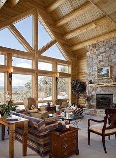 Log Cabin Interiors | Log Cabin Interiors Photo Gallery | Michigan ... | Kenai house ideas