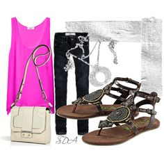 Bright Summer Outfit, created by syriada on Polyvore