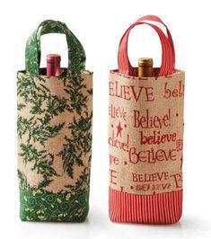 Wine Gift Tote: Christmas: Seasonal Projects: Winter: Shop | Joann.com