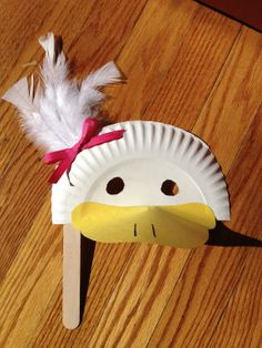 """Quick, cheap and easy. Use any duck themed book. NW Sing """"Little Ducky Duddle,"""""""