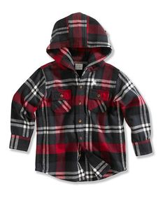 Take a look at this Red & Black Plaid Button-Up - Infant, Toddler & Boys by Carhartt on #zulily today!