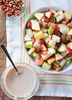 Greek Yogurt Salad Dressing, Yogurt Salad Dressings, Fruit Salad With Yogurt, Best Fruit Salad, Fruit Salsa, Dressing For Fruit Salad, Fall Fruits, Best Fruits, Ceviche