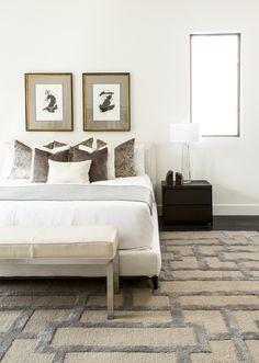modern glam bed