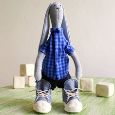 Toys Bunny toy Rabbit toy Grey stuffed bunny gift от ToysK5