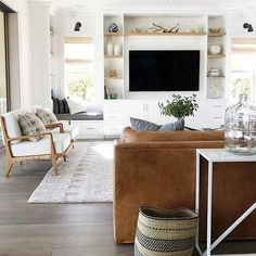 Minimalist Living Room Design Ideas For A Stunning Modern Home. Find and save ideas about Minimalist living rooms in this article. Coastal Living Rooms, My Living Room, Home And Living, Living Room Decor, Simple Living, Tv Wall Ideas Living Room, Dark Floor Living Room, Beach Living Room, Mid Century Living Room