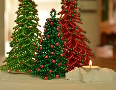 This Christmas Tree beading pattern - Christmas Tree tutorial is digital instant download, PDF format. This beading pattern is tutorial only - 1 PDF file of 5 MB. No materials are included. It doesnt include Christmas trees. The picture of Christmas trees is attached just to see the