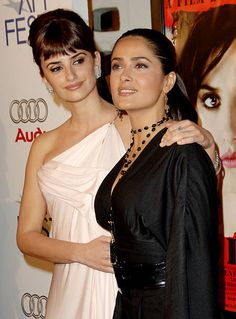 Penelope Cruz and Salma Hayek during AFI Fest 2006 Presented by Audi Hosts a Tribute to Penelope Cruz and a Presentation of 'Volver' at ArcLight...
