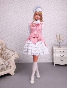 Cotton Pink Ruffles Sweet Lolita Dress